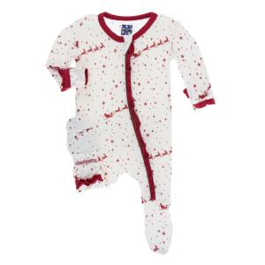 Kickee Infant Girl Footie Preemie-18-24