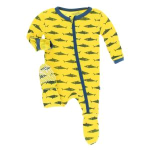 Infant Boy Footies Preemie-18-24