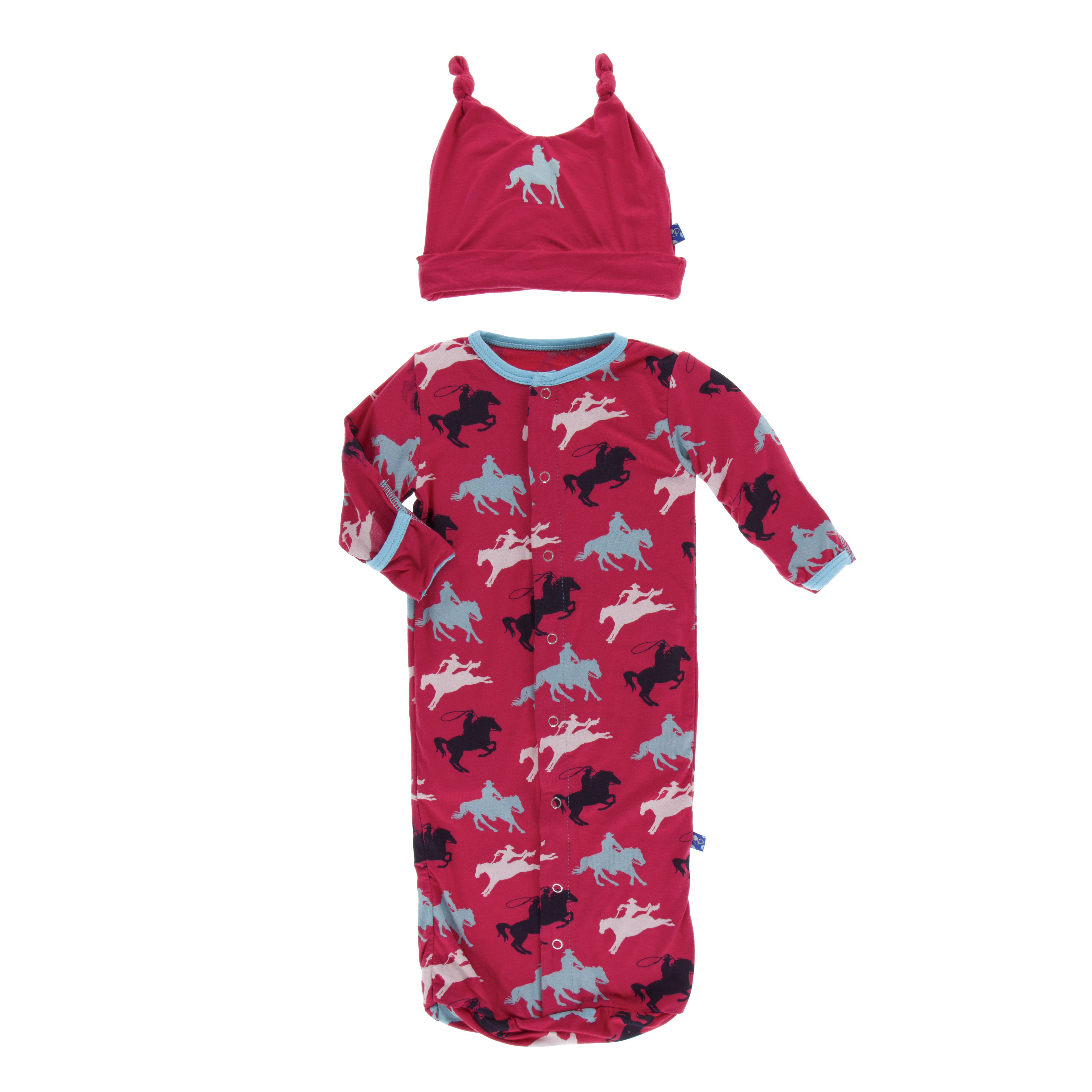 Layette Sack Gown & Double Knot Hat Set Flag Red Cowboy: Hoffman ...