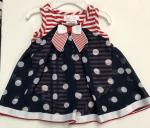 Bonnie Baby Nautical Onsie Dress Navy Sheer Dot  S04033-CV Navy S04033-CV Nav