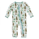 Infant Coveral Natural Woodland Holiday w/zipper