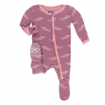 Infant Ruffle Footie Pegasus Sea Otter