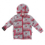 KK Print Quilted Jacket with Sherpa Lined Hood Feather Firefighter/Midnight Infrastructure