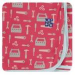 KK Swaddle Flag Red Construction