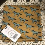 Kozi & Co Swaddle Teal Mustangs