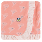 Ruffle Stroller Blanket Blush Happy Tornado