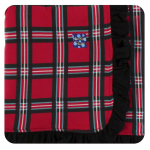 Ruffle Stroller Blanket Christmas Plaid 2019