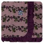 Ruffle Stroller Blanket Raisin Grape Vines