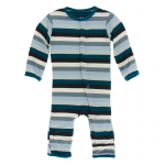 Toddler Coveral W/Zipper Meteorology Stripe