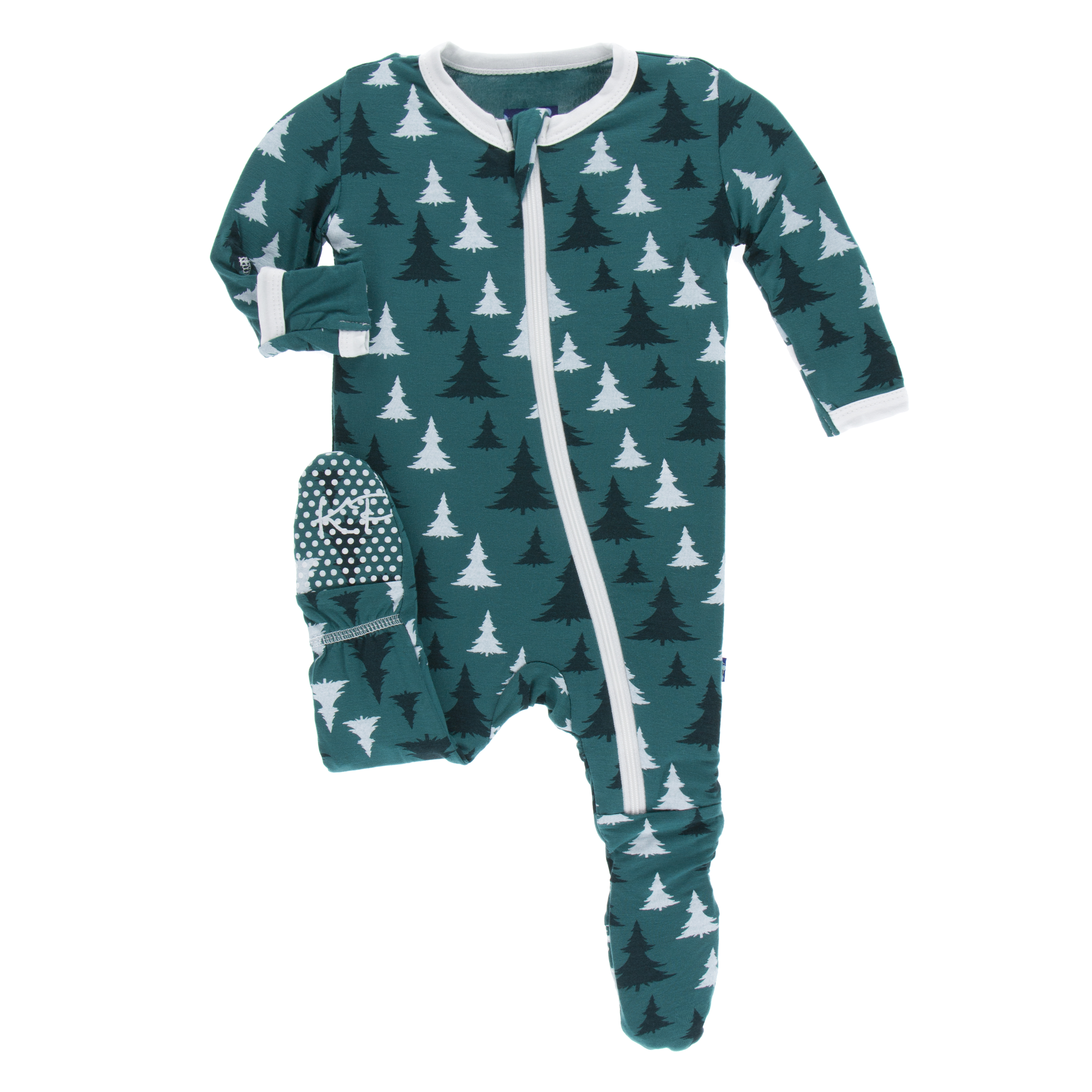 Toddler Boy Footie Wzipper Cedar Christmas Tree
