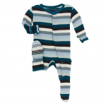 Infant Footie Meteorology Stripe