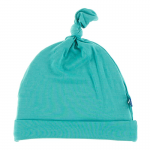 Infant Solid Knot Hat NB-3 months Neptune
